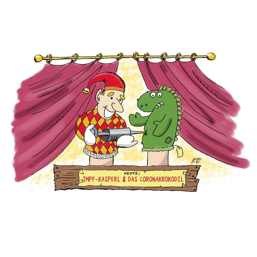 Das Impf-Kasperle & das Coronalcrocodil